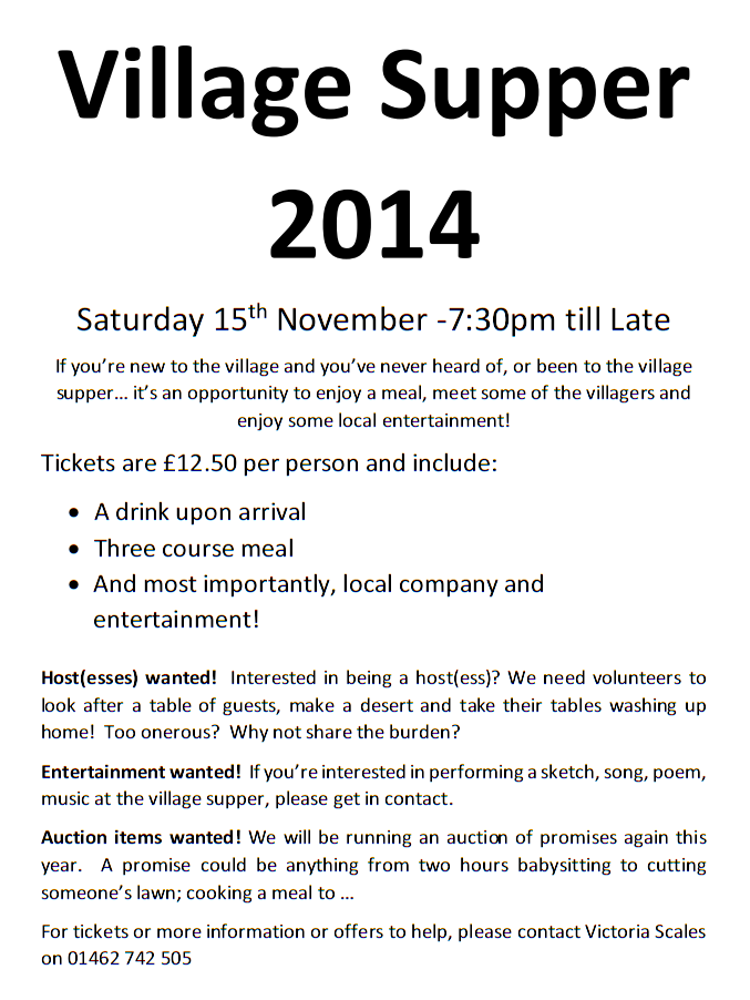 Village Supper 2014